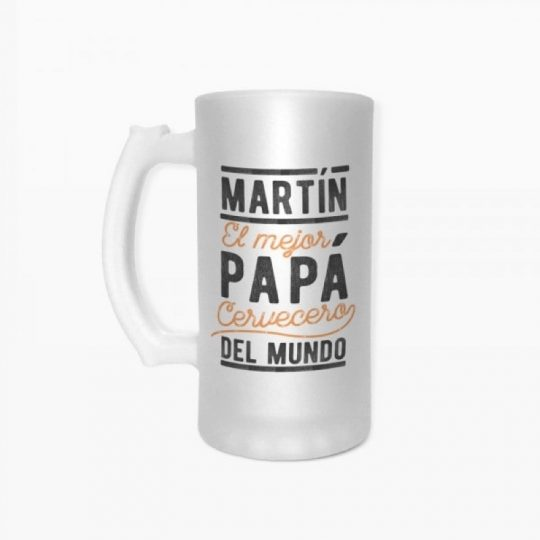 Jarra cerveza 'Mejor Papá' (personalizada)