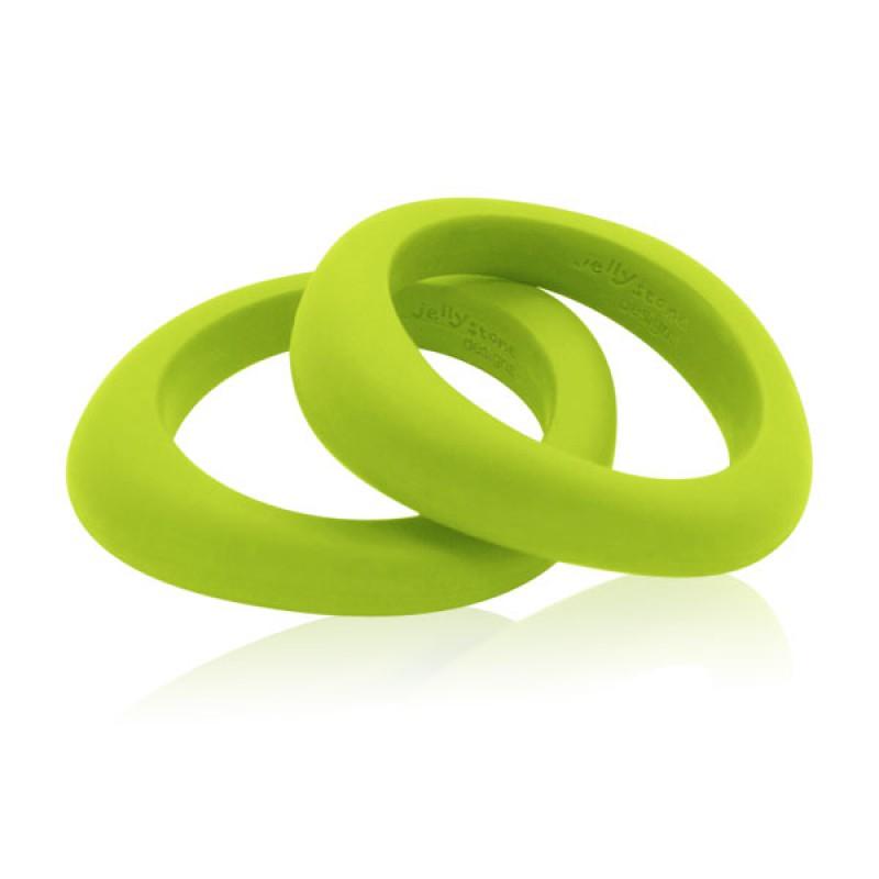 Pulsera-Mordedor Organic Bangle - Verde lima -
