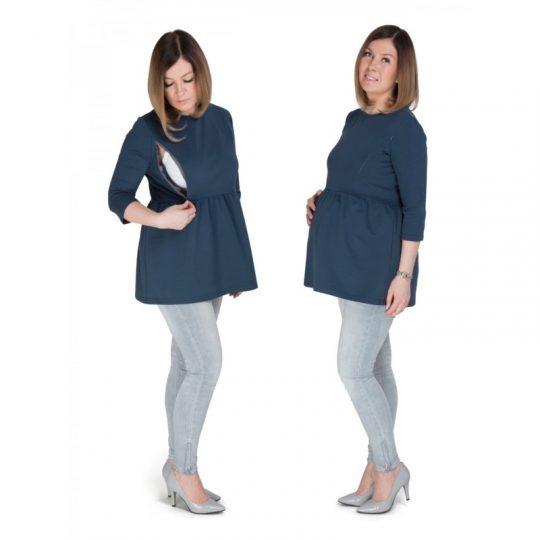 Jersey embarazo/lactancia Mama - Petrol Blue -