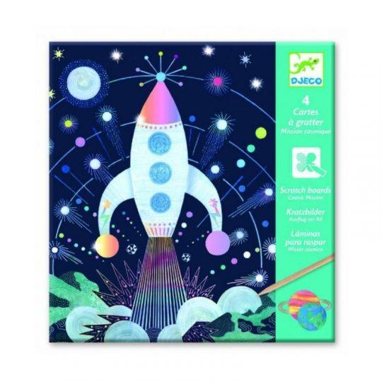 Láminas para rascar - Misión espacial -