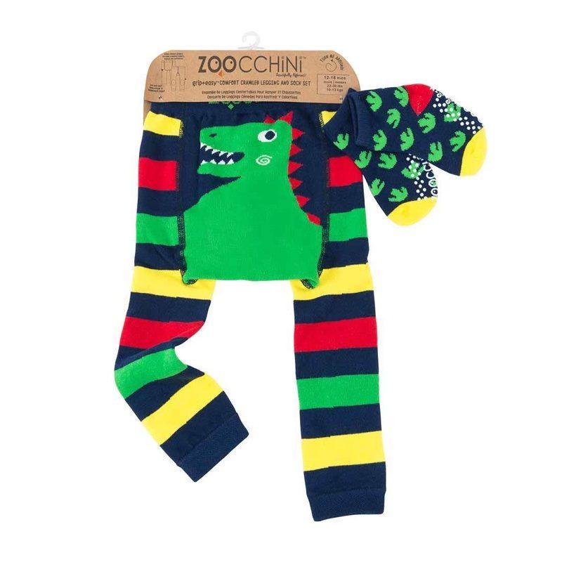 Leggings con calcetines de Zoocchini, Devin el dinosaurio