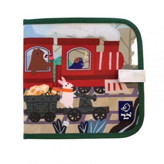 Libro pizarra para colorear + Tizas sin polvo - Tren con animales -
