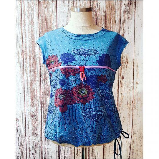 Camiseta Lactancia M/L -Flores-