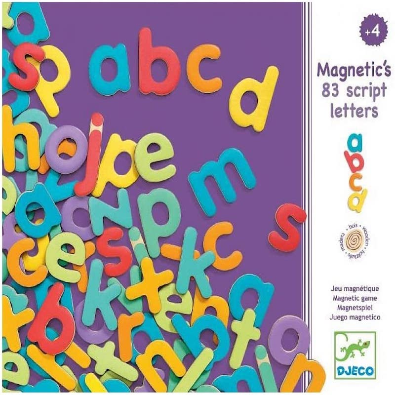 Magnéticos 83 Letras minúsculas - Djeco