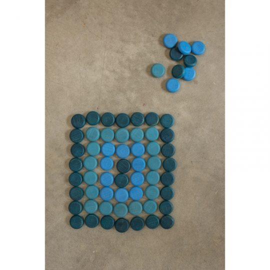 Mandala Pequeñas Monedas Azules