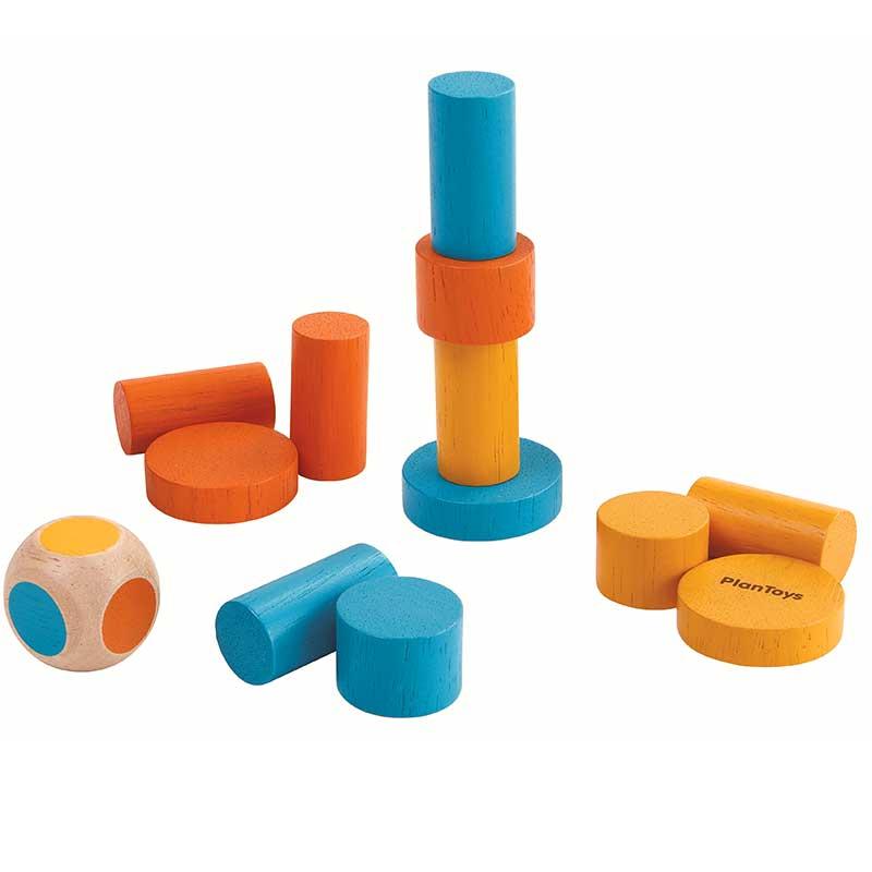 Mini juego apilar columnas - Plantoys