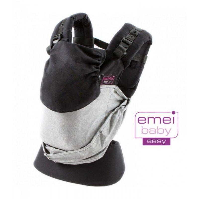 Mochila Emeibaby Easy gris negro- Monetes