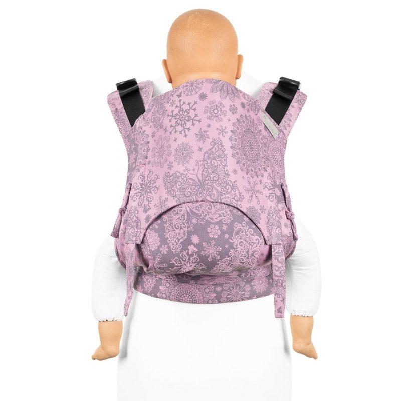 Mochila ergonómica evolutiva Fidella Fusion 2.0 Toddler Iced Butterfly Gris y violeta