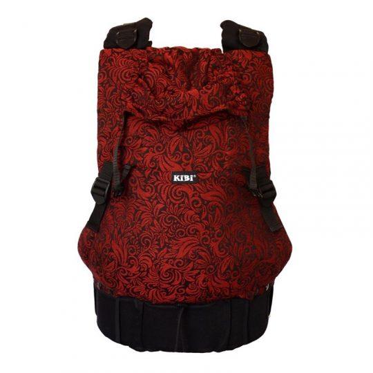 Mochila portabebé Kibi - Lenire Flora Red Velvet -