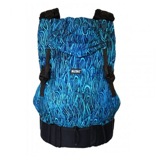Mochila portabebé Kibi EVO - Baatik Blue -
