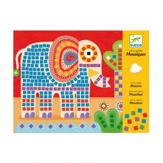 Mosaico elefante y caracol