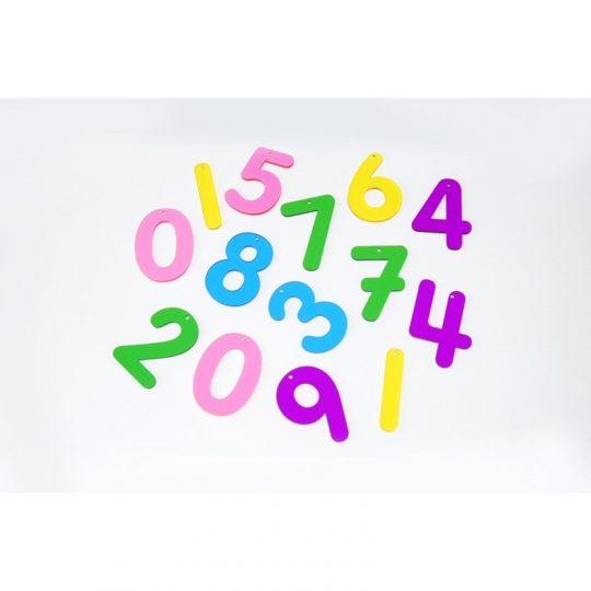 Números arcoíris de metacrilato (0 a 9)