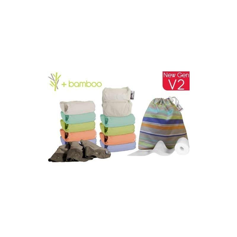 Pack de 10 pañales Pop In en colores pastel, con accesorios