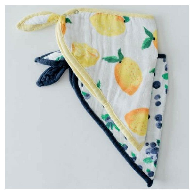 2 baberos bandana de muselina de algodón Berry Lemon, Little Unicorn