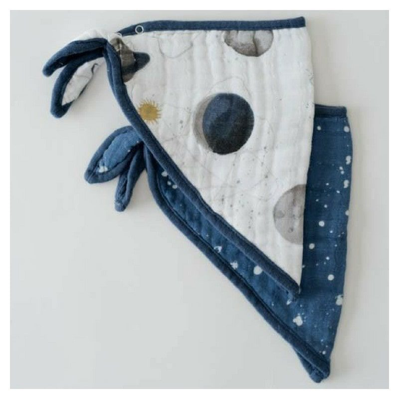 2 baberos bandana de muselina de algodón Planetary, Little Unicorn