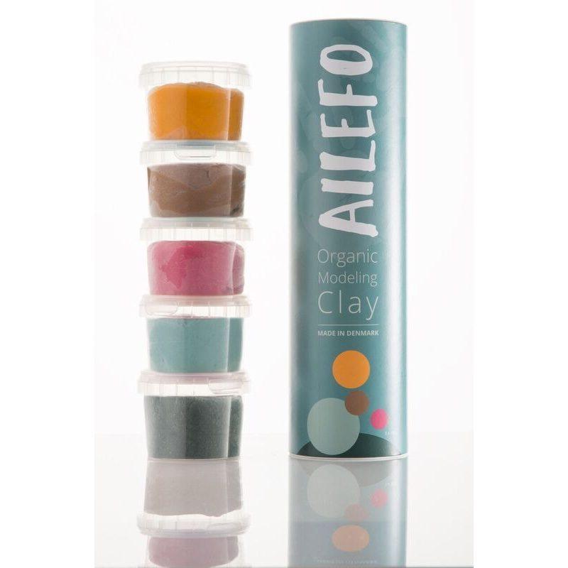 Plastilina orgánica 5 colores 100 gr, Ailefo
