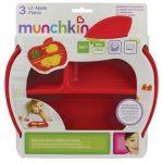 Pack de platos con compartimentos Apple Muchkin
