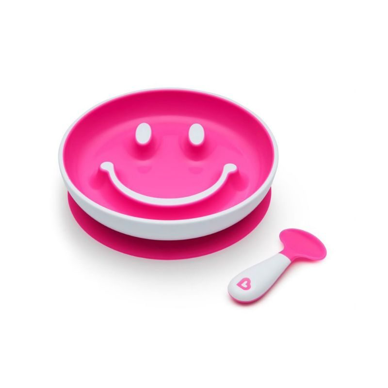 Juego de plato con ventosa y cuchara de aprendizaje Smile 'n Scoop Munchkin