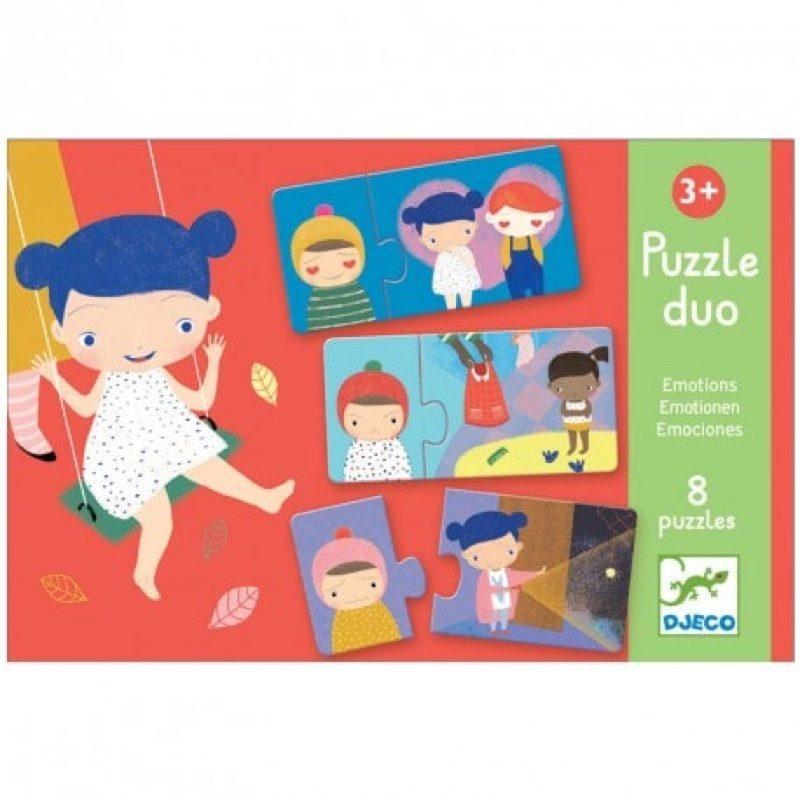 Puzzle duo emociones, Djeco