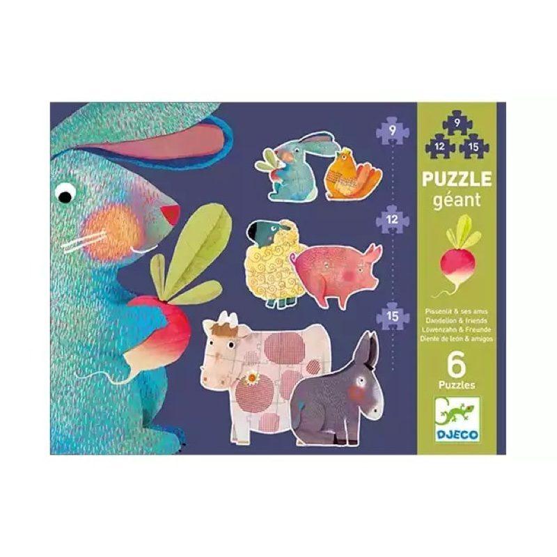 Puzzle evolutivo gigante Diente de león y amigos, Djeco