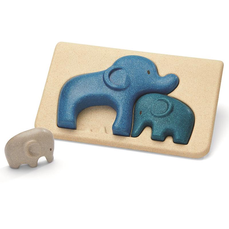 Puzzle familia de elefantes - Plantoys