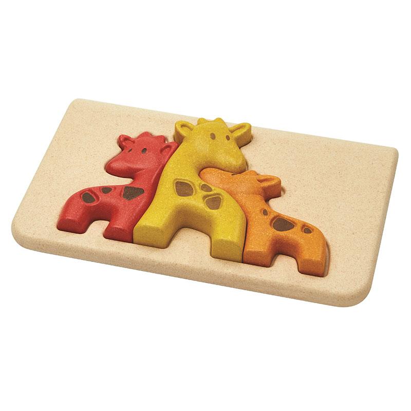 Puzzle familia de jirafas - Plantoys