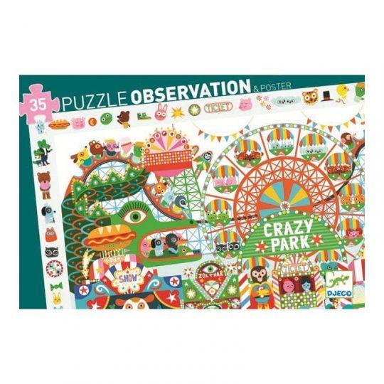 Puzzle Observación Crazy Park - 35 piezas -