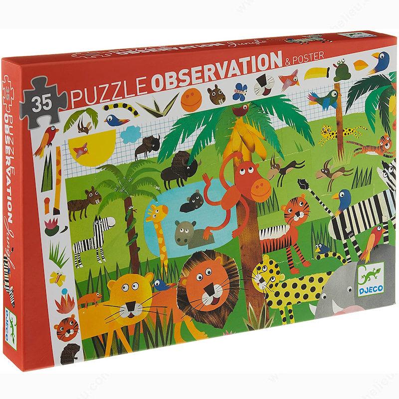 Puzzle observacion jungla Djeco