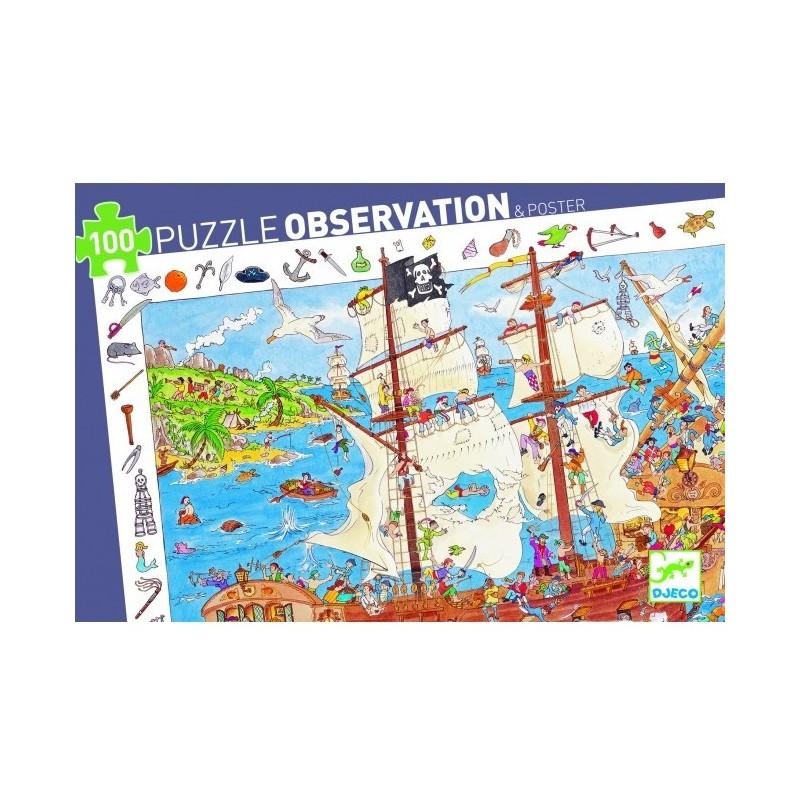 Puzzle observacion piratas Djeco