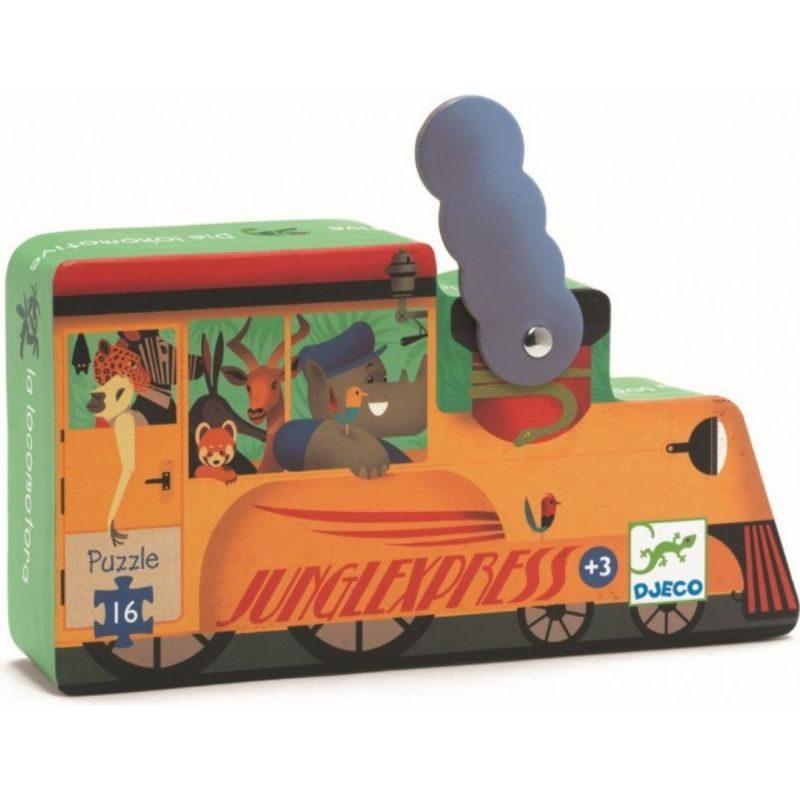 Puzzle Silueta Locomotora Djeco - Monetes