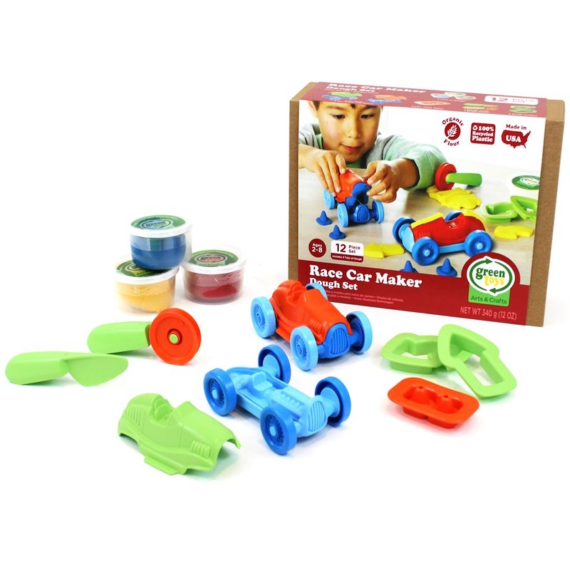 set coches de carreras eco plastilina greentoys