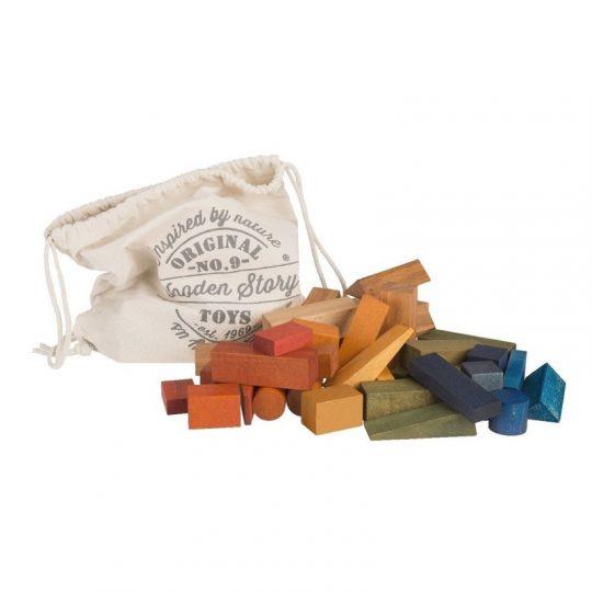 Bloques Arcoíris en Saco XL - 50 piezas -