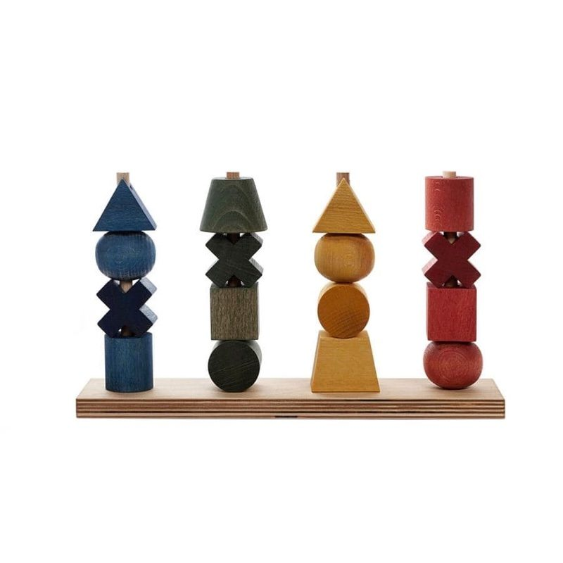 Rainbow stacking Toy XL, Wooden Story