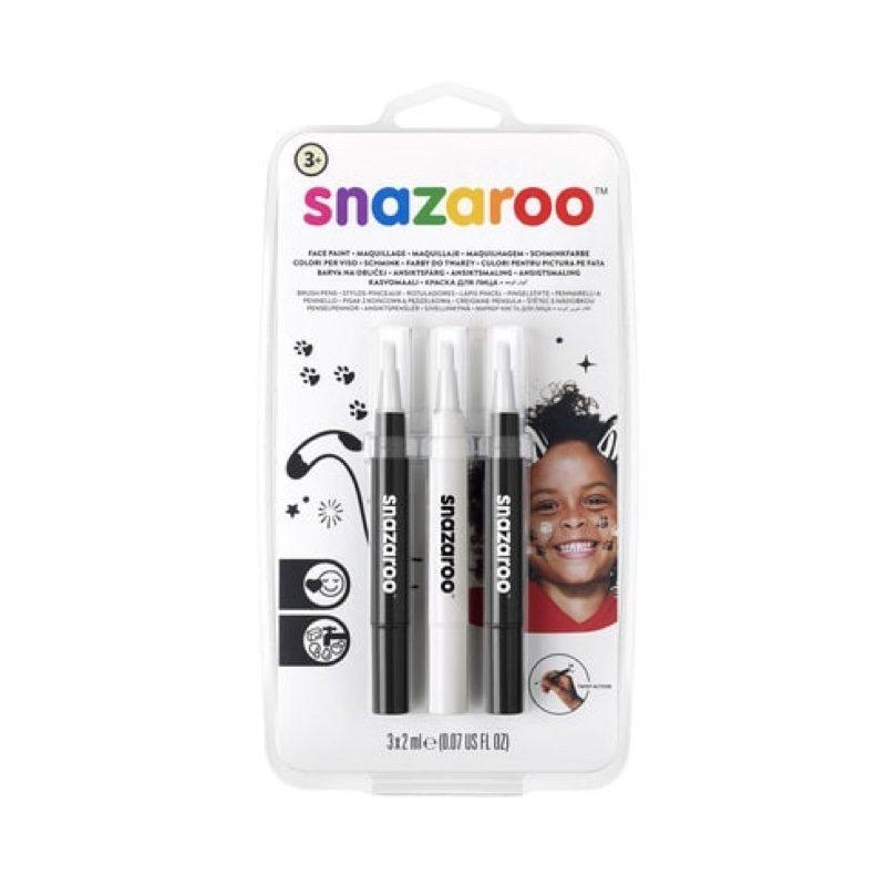 Rotuladores de maquillaje facial y corporal blanco y negro, Snazaroo