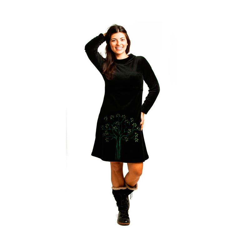 Vestido manga larga Lactancia - Romina -