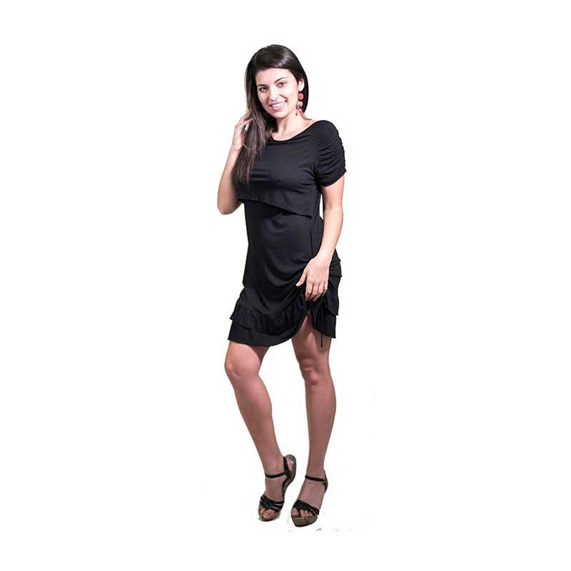 Vestido Premamá/Lactancia Rosana -Negro-