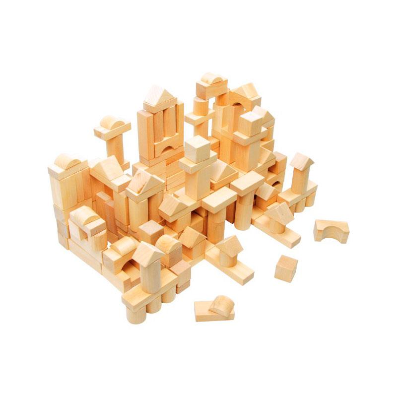 Saco con cubos natural pequeños - 100 piezas -