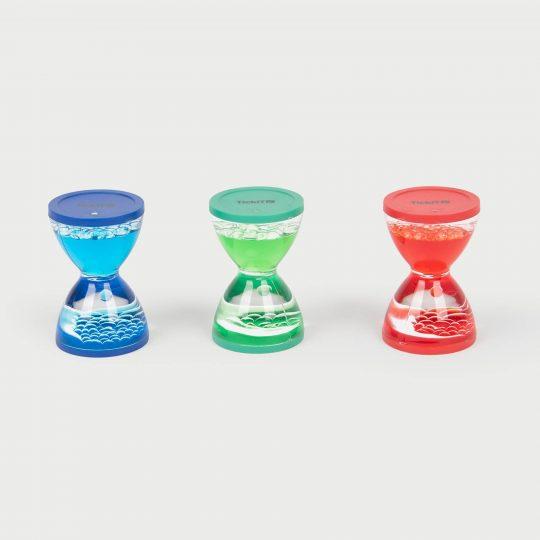 Relojes de arena sensoriales líquidos - Set de 3 -