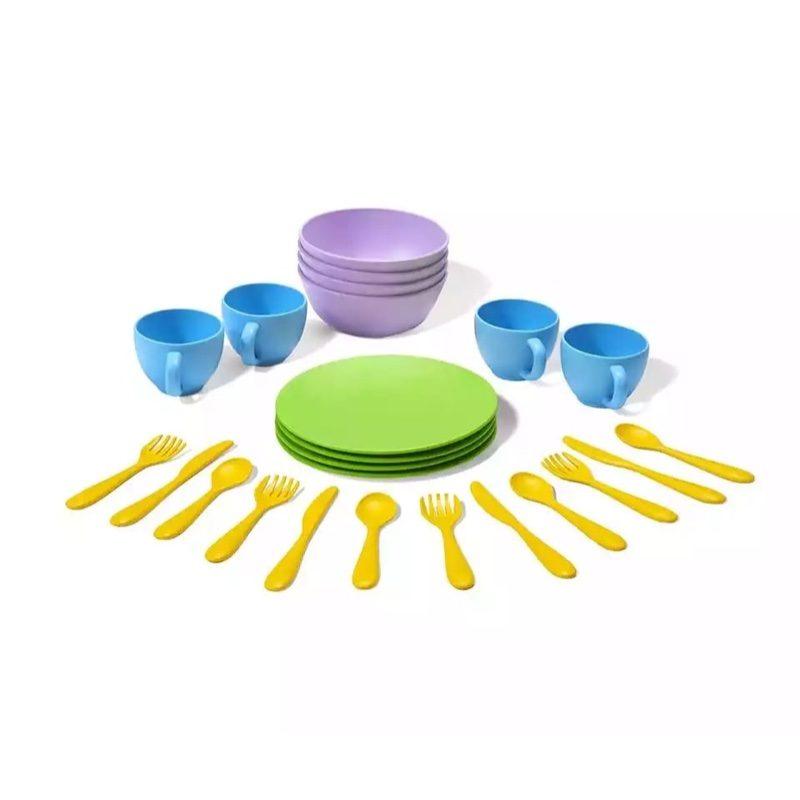 Set de platos, vasos y cubiertos ecológicos, de Green Toys