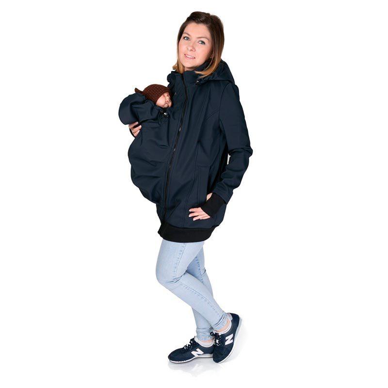 Abrigo de porteo y embarazo 3 en 1. Everest Softshell - Navy -