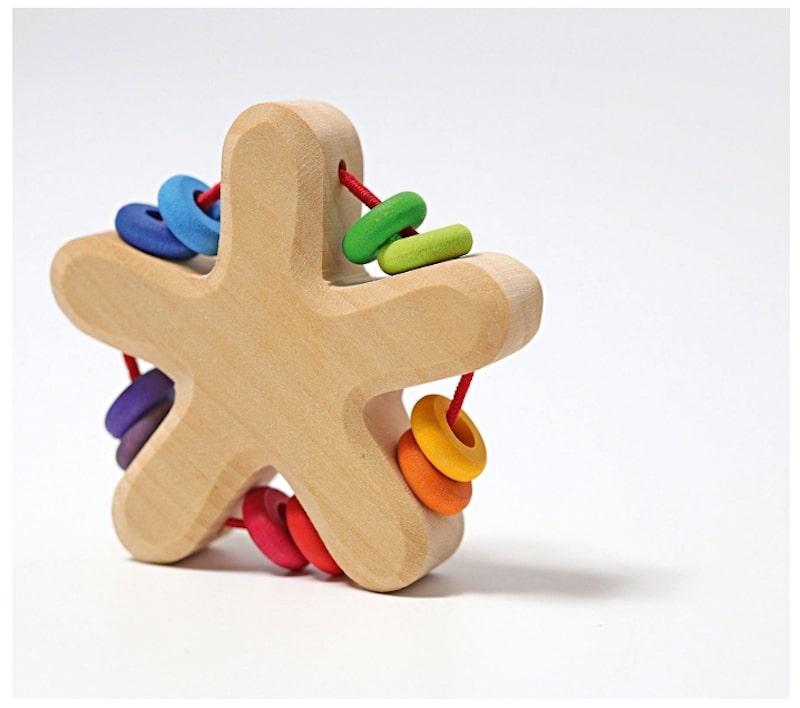 Sonajero de madera estrella - Grimms
