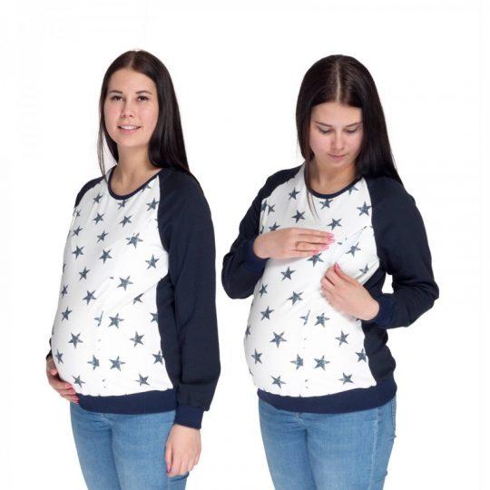 Sudadera embarazo/lactancia Charlie - Navy/Stars -