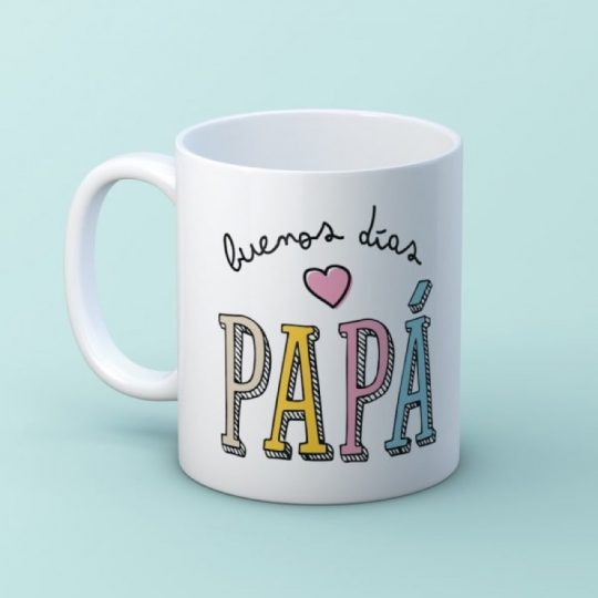 Taza 'Buenos días Papá' (personalizada)
