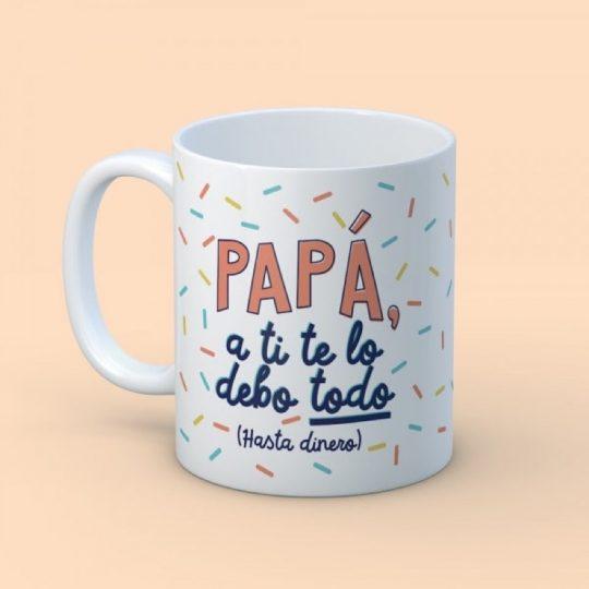 Taza 'Papá te debo' (personalizada)