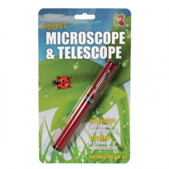 Telescopio y microscopio pocket