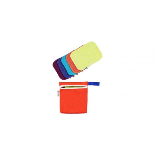 Pack de 10 toallitas de tela lavables Bambú Pop-In - varios colores -