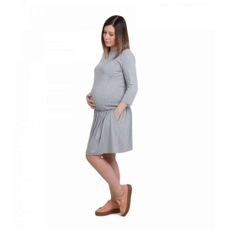 Vestido embarazo y lactancia Amelia gris Fun2bemum