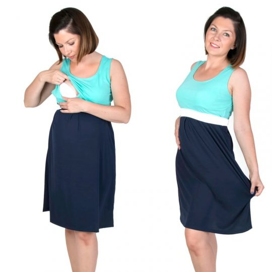 Vestido corto embarazo/lactancia