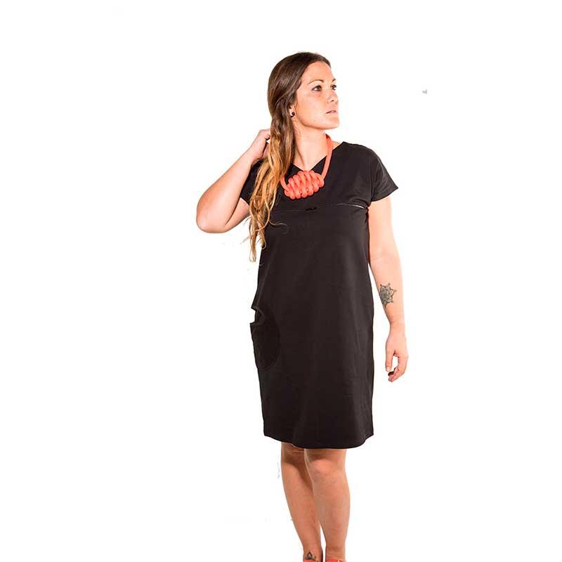 Vestido premamá y lactancia - Black Zipper -