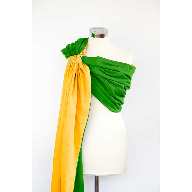 Bandolera de gasa reversible - Zesty Green -